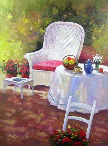 White Chair & Table