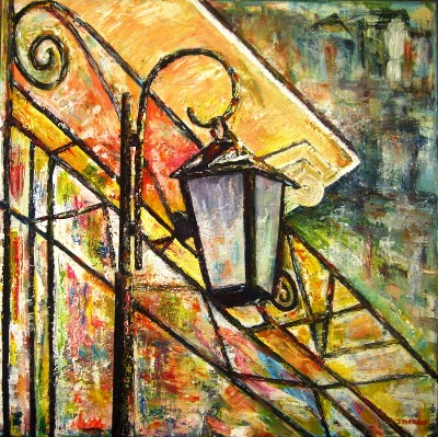 Jorge Mendes Colorful Street Lamp
