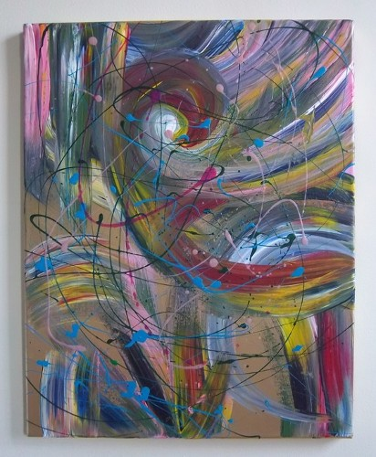 Katie N. Dunphy Original Abstract Painting by Katie N. Dunphy