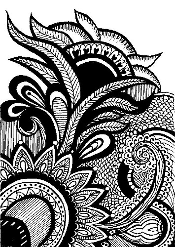 Original Henna Style Print of Original Drawing by Katie N. Dunphy