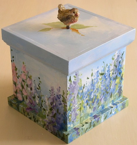 Laurie Rohner Studio Landscape on Wood Box