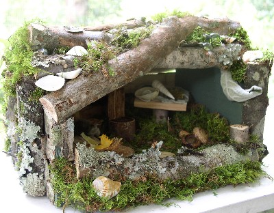 Laurie Rohner Studio Woodland Fairy House