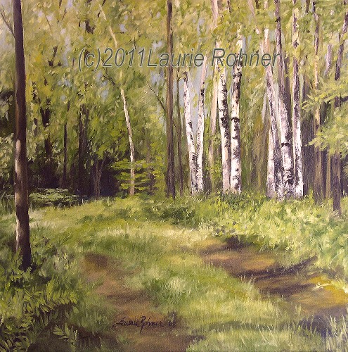 Laurie Rohner Studio Path to the Birches