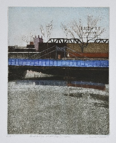 Linda Adato Blue Bridge across the Gowanus