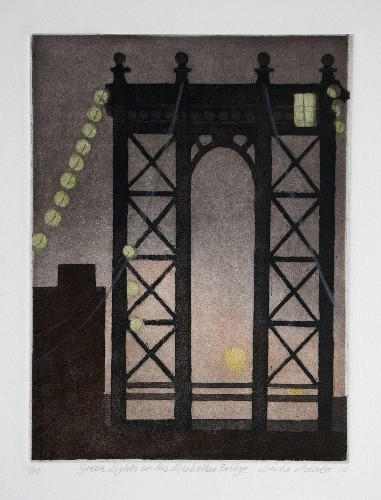 Linda Adato Green Lights on the Manhattan Bridge