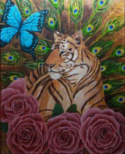Lissette Blandino 2 Cor 11:3 Tiger and Roses