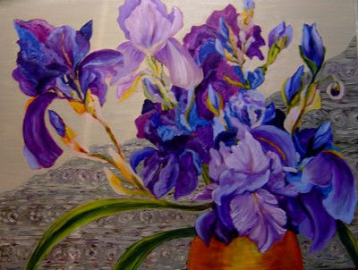 Luba Sterikova Irises of My Neighbor Kay