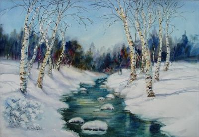 M. E. Whitehill Winter Stream
