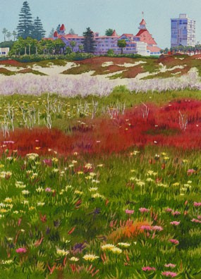 Mary Helmreich Beach Flowers at the Del