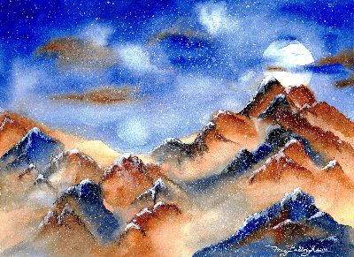 Moonlit Mountains
