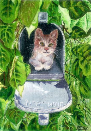 Nancy Tydings Bullough Mailbox Kitty