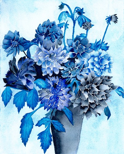 Nancy Tydings Bullough Floral in Blue