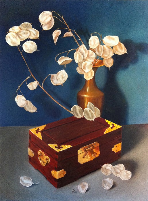 Nancy Tydings Bullough Money Plant & Box