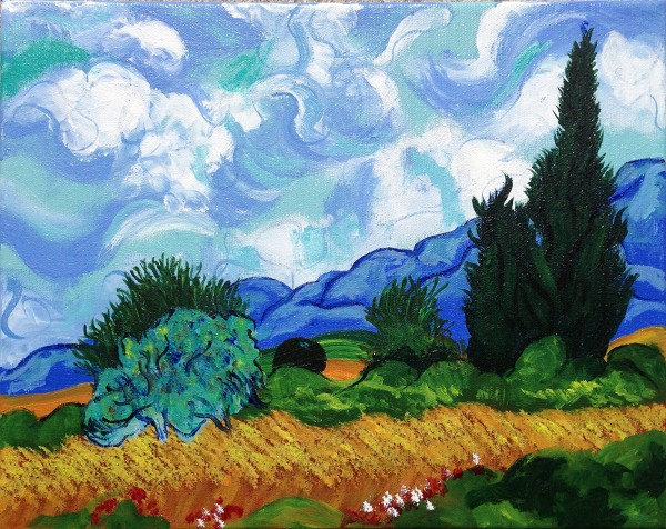 Nancy Tydings Bullough Wheat Field & Cypresses - After van Gogh