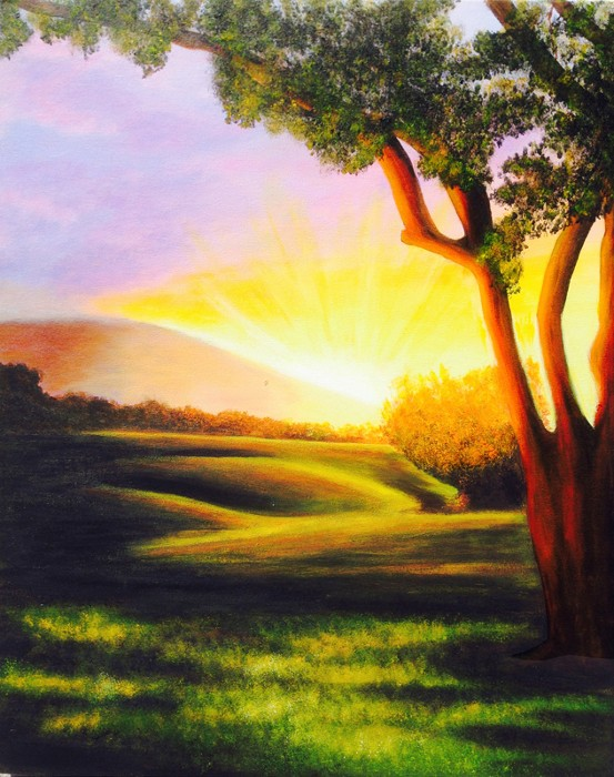 Nancy Tydings Bullough Sunrise Over Rolling Hills