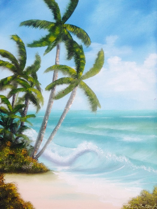 Nancy Tydings Bullough Palm Trees at the Beach