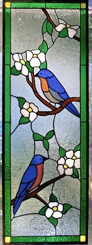 Bluebirds in Dogwood