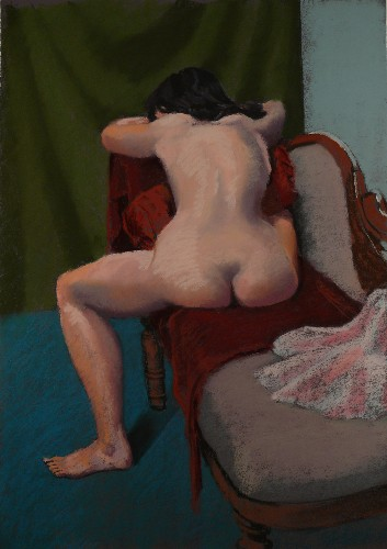 Paul Barton Nude on Chaise