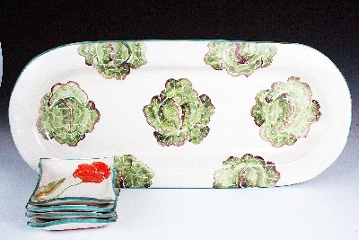 Poppies & Lettuce Bread & Oil Set