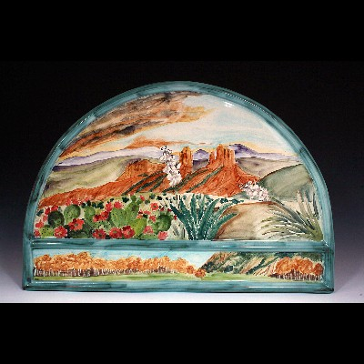Desert Sunset Arch Tile
