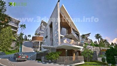 3D Exterior Rendering India