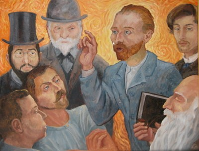 Van Gogh Preaching to the Post Impressionists