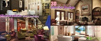 3D home Comercial Diseño Interior