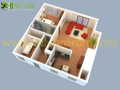 Ruturaj Desai 3D Floor Plan