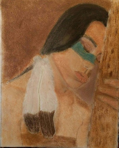 Sal Robert Ingoglia native american woman resting