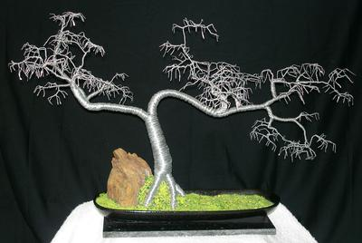 Cascade No.5. Wire Tree Sculpture