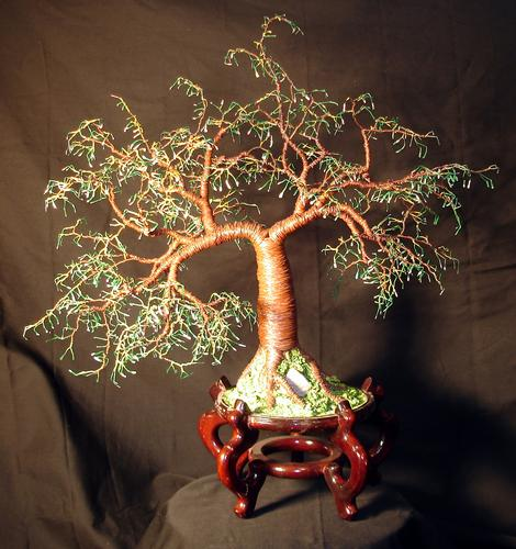 Cascade No. 4. Wire Tree Sculpture