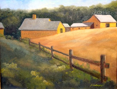 Yellow barns of Middlebury
