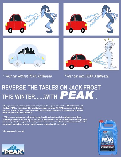 'PEAK' Anti-freeze Ad