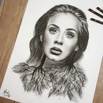 Adele drawing by Samira Jozi