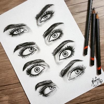 Cara's eyes