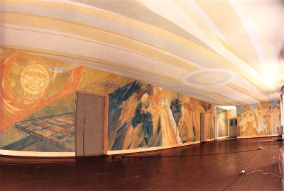 Mural painting in the Memorial Museum of Nikolai Chepik: General view
