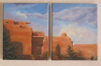 Taos Pueblo Diptych