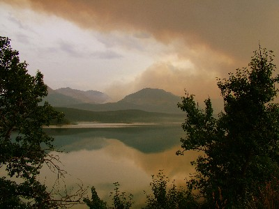 Fire at St Mary Lake