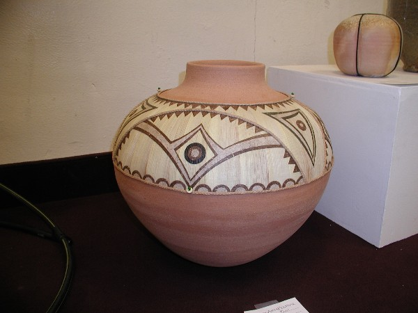 Ty Minton Corn Husk Decorated Vessel