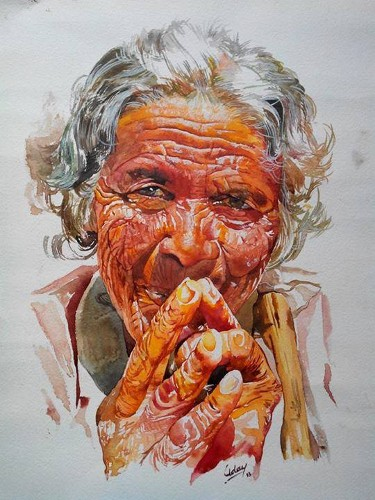 Uday Arts .... Old Lady