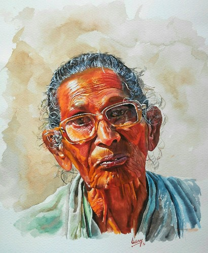 Uday Arts .... old lady2