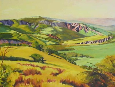 Vicki L Ingham Countryside with Yellow Fields