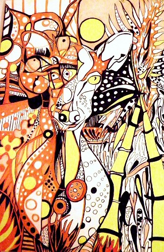 Cervo pomellato femmina-wild life