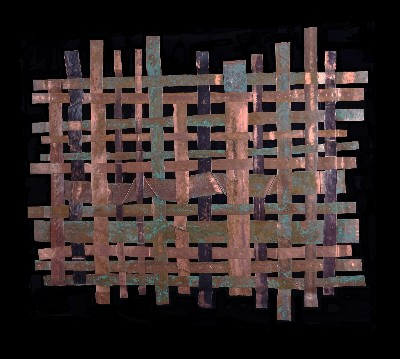 Copper Weave Wall Art