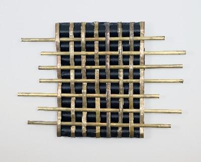 Brass Weave Metal Wall Art