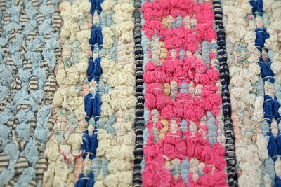 BENONIA Vintage Scandinavian Rag Rug