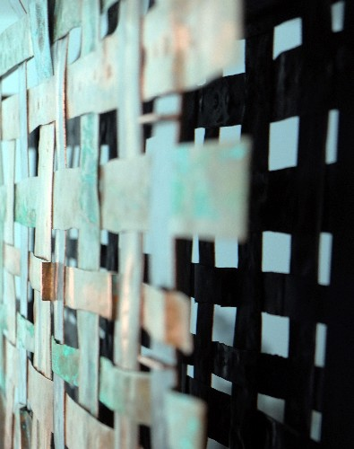 Copper Weave Wall Art