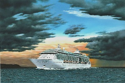 RCI Jewel of the Seas in the Baltic Sea