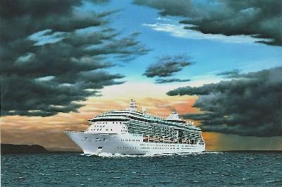 RCI Jewel of the Seas in the Baltic Sea