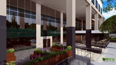 3D Spacious Building Exterior Design